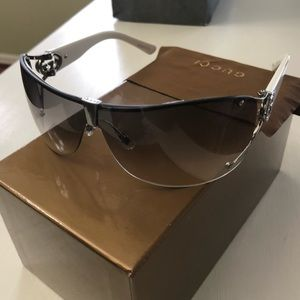 Gucci Womens wrap around gradient NEW sunglasses